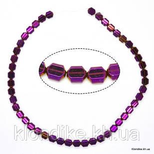 Бусины Гематит Натуральный, на нити, 9×7×4 мм, Цвет: Фиолетовый