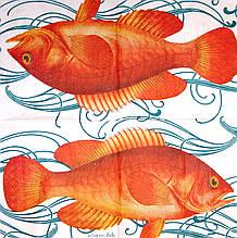 Декупажная салфетка Красная рыба 4809