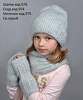 076 Шапка Эмили. Пушистая шапка с длинным ворсом и отворотом, на флисе. р. 55-58. Цвета разные, фото 1