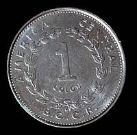 Монета Коста Рики 1 колон 1984 г.