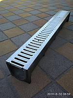 Водоотвод полимеркомпозитный глубокий с стальной оцинкованной решеткой, фото 1