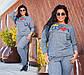 """Женский стильный спортивный костюм демисезон до больших размеров 15208 """"Hippy"""", фото 3"""