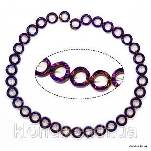 Бусины Гематит Натуральный, кольцо, на нити, 12×10 мм