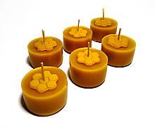 Чайні свічки з бджолиного воску Tea Lights Candles без гільзи