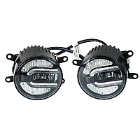 Протитуманні світлодіодні фари Jeep Wrangler ( 2 шт. ) LED, хром, 12-30 В, 20 Вт