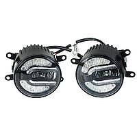 Світлодіодні Протитуманні фари Jeep Wrangler ( 2 шт. ) LED, хром, 12-30 В, 20 Вт, фото 1