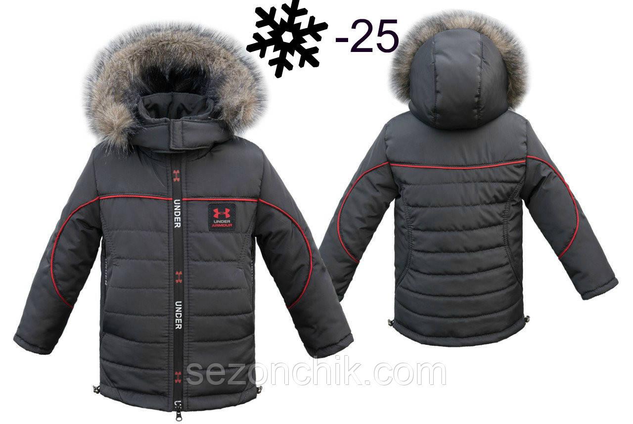 Куртка зимняя детская на мальчика на овчине