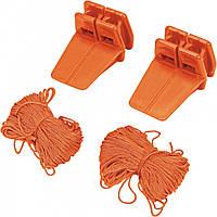 Угловые держатели со шнуром 18 м 2 шт Vorel 17430