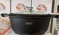 Кастрюля Алюминиевая С Антипригарным Покрытием Banoo 28 См, фото 1