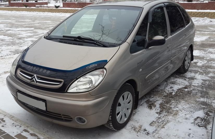 Дефлектор капота (мухобойка) Citroën Xsara Picasso 2004–201