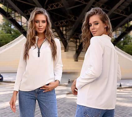 """Стильная женская блузка до больших размеров 41325 """"Софт Змейка"""" в расцветках"""
