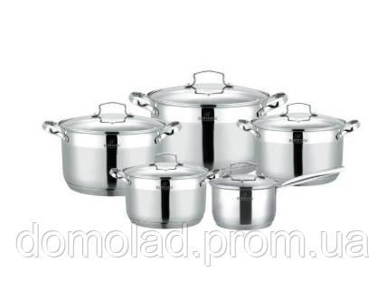 Комплект Каструль Для Будинку BOHMANN BH 1912 10 Кухонний Набір Посуду 10 Предметів