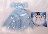 Платье карнавальное, голубое, 6 (6 лет-115см)  (460885-4)