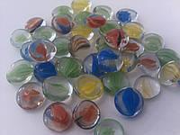 Стеклянные камни Марблс цветные