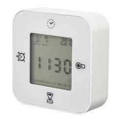 ИКЕА (IKEA) КЛОККИС, 802.770.04, Часы/термометр/будильник/таймер, белый - ТОП ПРОДАЖ