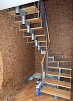 Монтаж металлической лестницы Киев