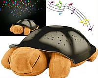 Ночник - проектор черепаха Turtle Night Sky с USB кабелем | светильник КОРИЧНЕВЫЙ