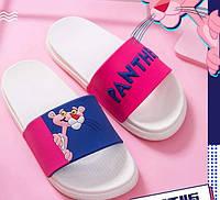 Открытые розовые летные тапочки с Розовой Пантерой, фото 1