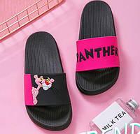 Открытые фиолетовые летные тапочки с Розовой Пантерой