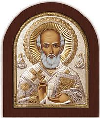Св. Николай Чудотворец 20х25см себерняый оклад с позолотой