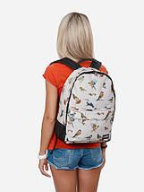 Рюкзак, Birds TAN, сумка-рюкзак, рюкзак с рисунком, фото 3