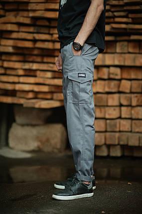 БРЮКИ КАРГО GRAY, стильные штаны, мужская одежда, фото 2