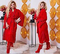 Шикарный халат с кружевами плюс махровые сапожки, Размеры 48-50 и  50-52,  код 0106, фото 2