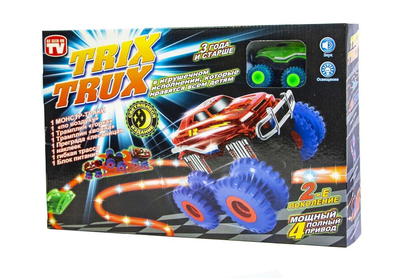 """Трек канатный """"Trix Trux"""" LED (светящийся трек и машинка)"""