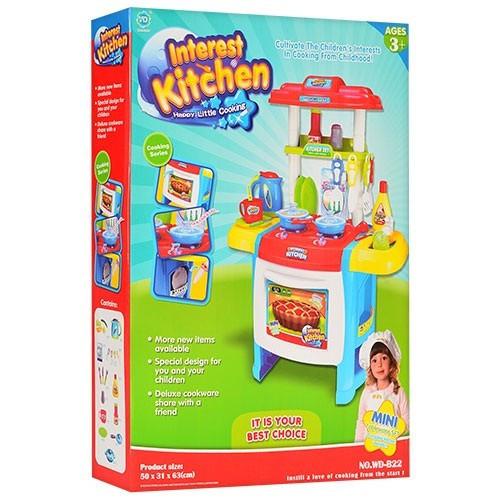 """Детская кухня """"Interest Kitchen"""" с музыкой и светом WD-B22 голубая"""