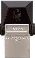 Флешка Kingston DataTraveler MicroDuo OTG USB 3.0 16GB Black (38108)