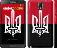 """Чехол на Samsung Galaxy Note 3 N9000 Чорно-червоний прапор з тризубом """"1170c-29"""""""