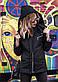 """Женская стильная куртка демисезон 0468 """"Канада Капюшон Стойка Кнопки"""" в расцветках, фото 2"""