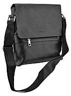 Мужская сумка из эко-кожи JEEP 866 BAGS | сумка через плечо Джип черная
