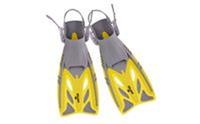 Ласты детские с открытой пяткой (пяточный ремень) детские ZEL ZP-442-L-XL (р-р L-XL-32-37,жёлт,син,красн)