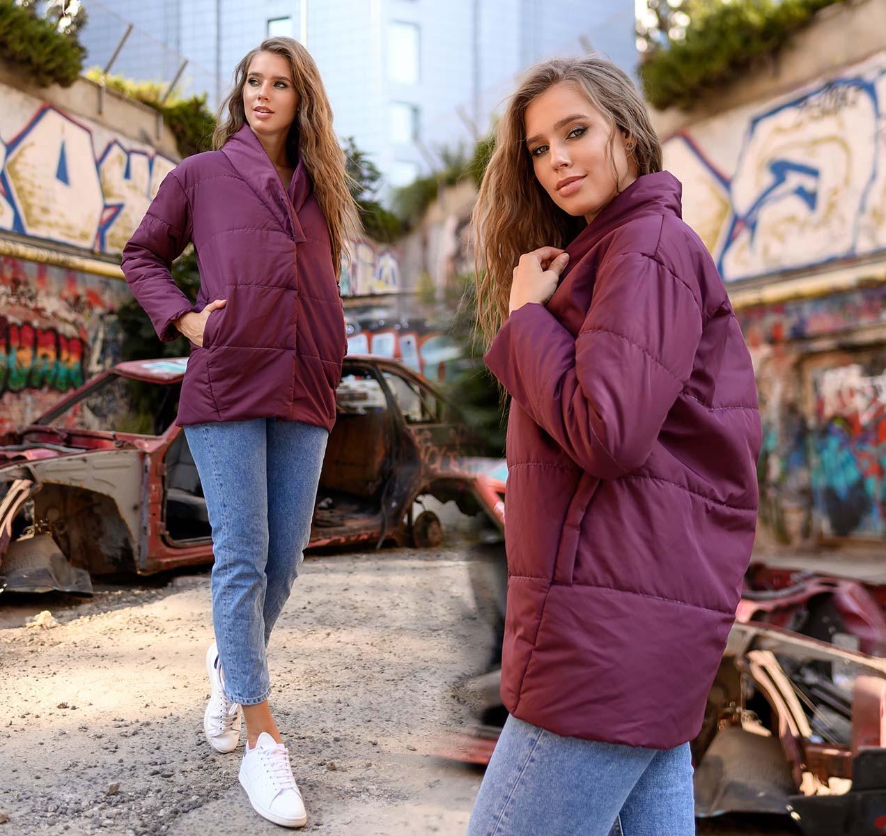 """Женская стильная куртка демисезон 0467 """"Канада Овер Бочонок"""" в расцветках"""