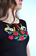Вышитая женская футболка  631 (Л.Л.Л)