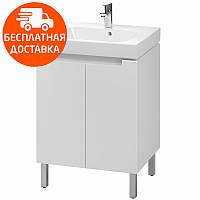 MODO комплект:шкафчик под умывальник 60 см+умывальник мебельный 60 см,белый (пол.)
