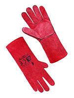 Перчатка Крага Seven на подкладке красная длинная