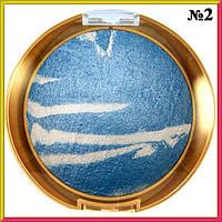 Тени для Глаз LDM Голубые Запеченные, Зебра Большая  Тон 02 Декоративна Косметика, Макияж