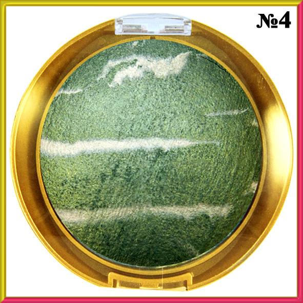 Тіні для Очей LDM Зелені Запечені, Зебра Велика Тон 04 Макіяж, Тіні Для Повік