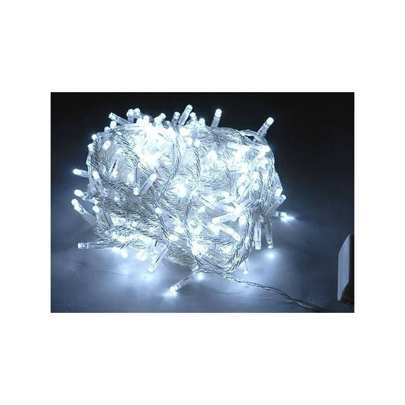 Гирлянда 200 LED 16м белая на прозрачном проводе