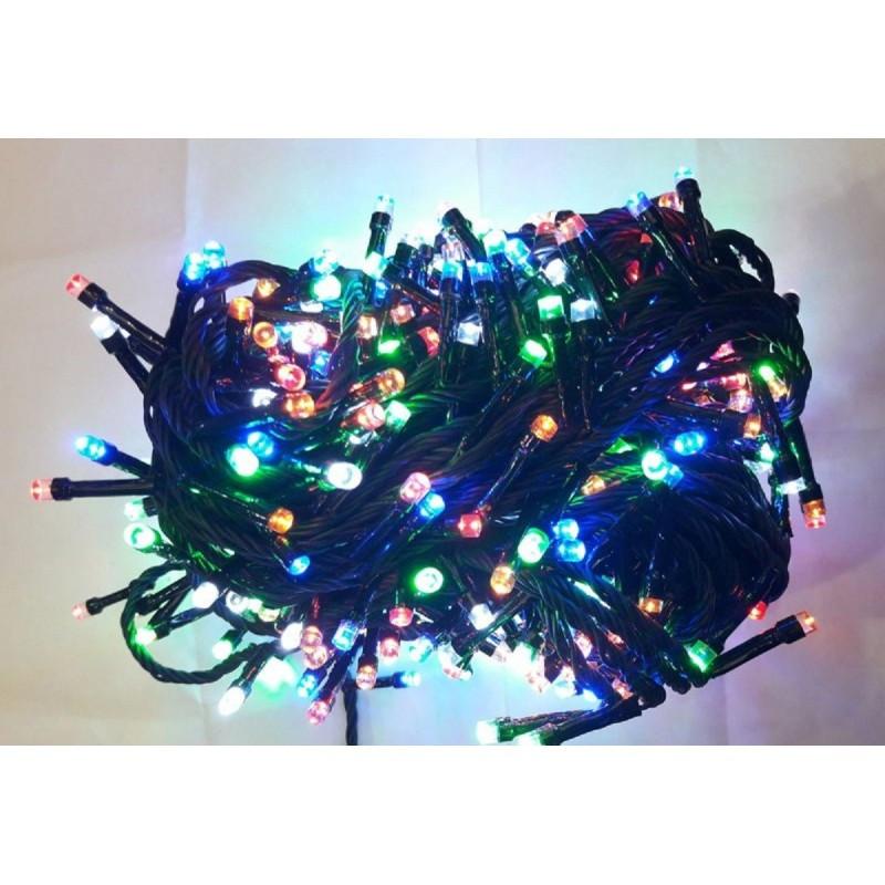 Гирлянда 400 LED 30м разноцветная на черном проводе