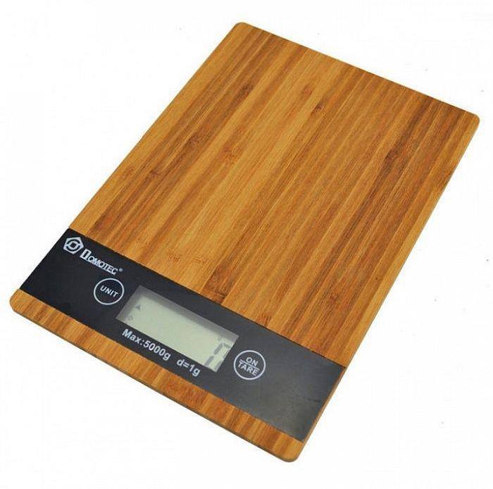 Кухонные сенсорные весы Domotec Ms-a до 5кг (платформа из дерева)