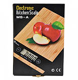 Кухонные сенсорные весы Domotec Ms-a до 5кг (платформа из дерева), фото 3