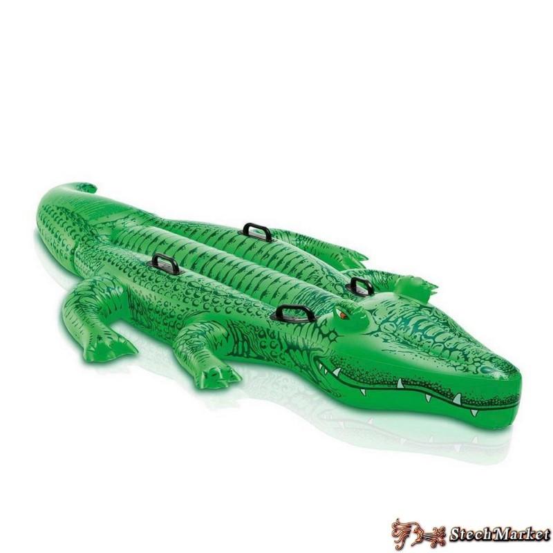 """Детский надувной плотик """"Крокодил"""" Intex 58546 168х86см"""