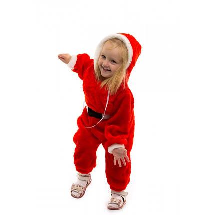 Новогодний костюм для малыша Санта Клаус комбинезон теплый, фото 2