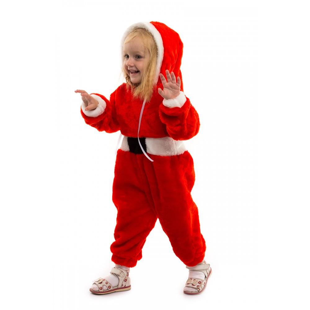 Новогодний костюм для малыша Санта Клаус комбинезон теплый