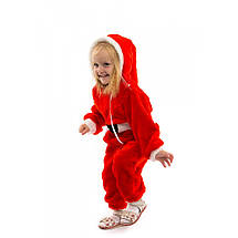 Новогодний костюм для малыша Санта Клаус комбинезон теплый, фото 3