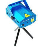 Лазерный диско проектор стробоскоп лазер светомузыка 3 режима, микрофон, регулировки, фото 4