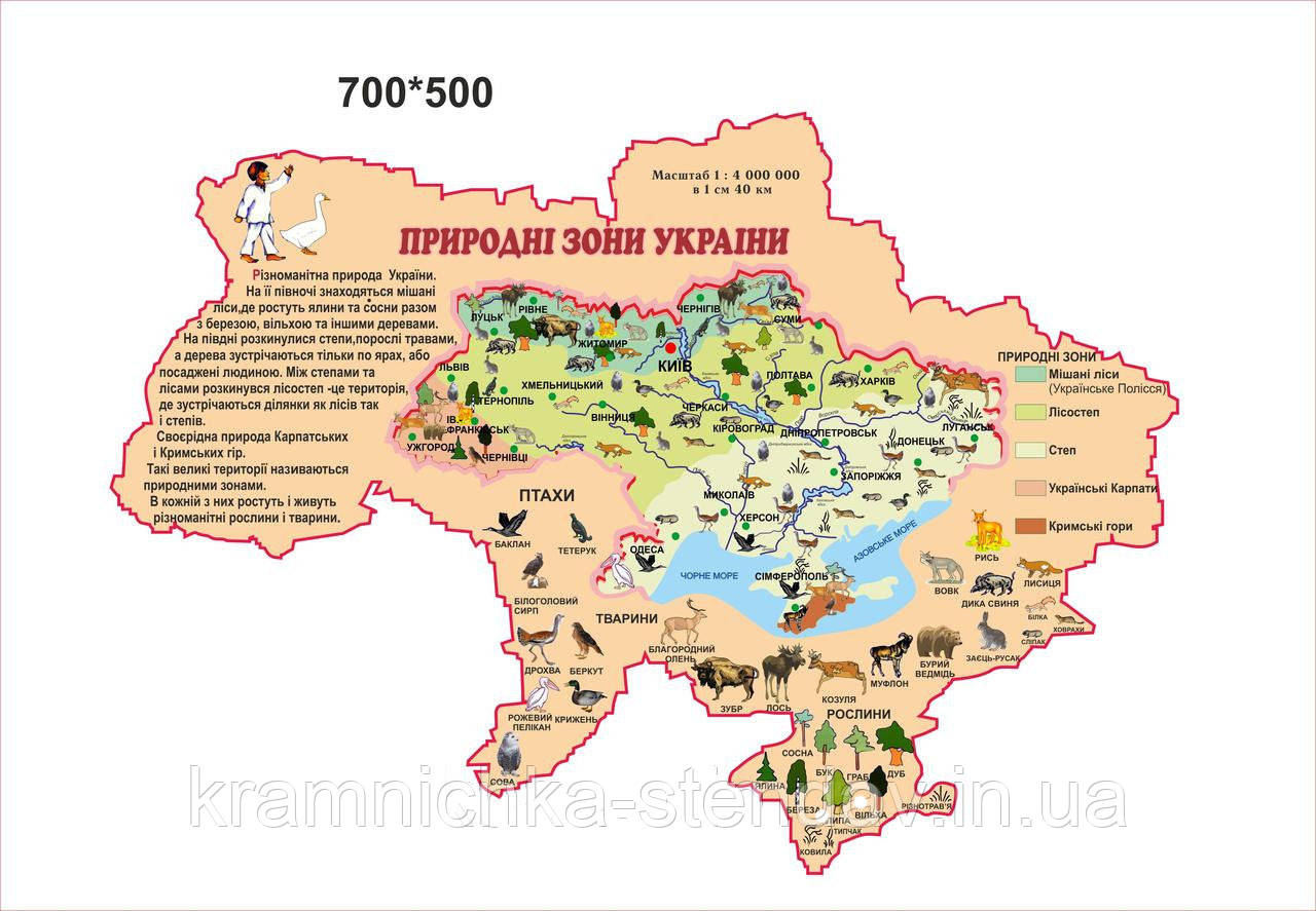 Карта «Природные зоны Украины»